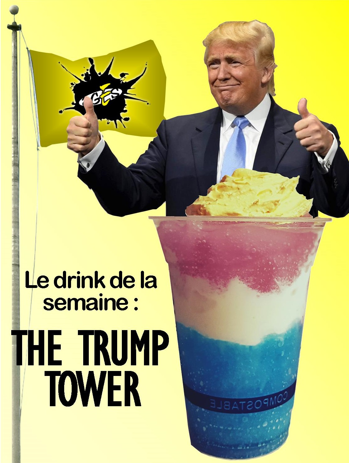 The trump tower drink poster